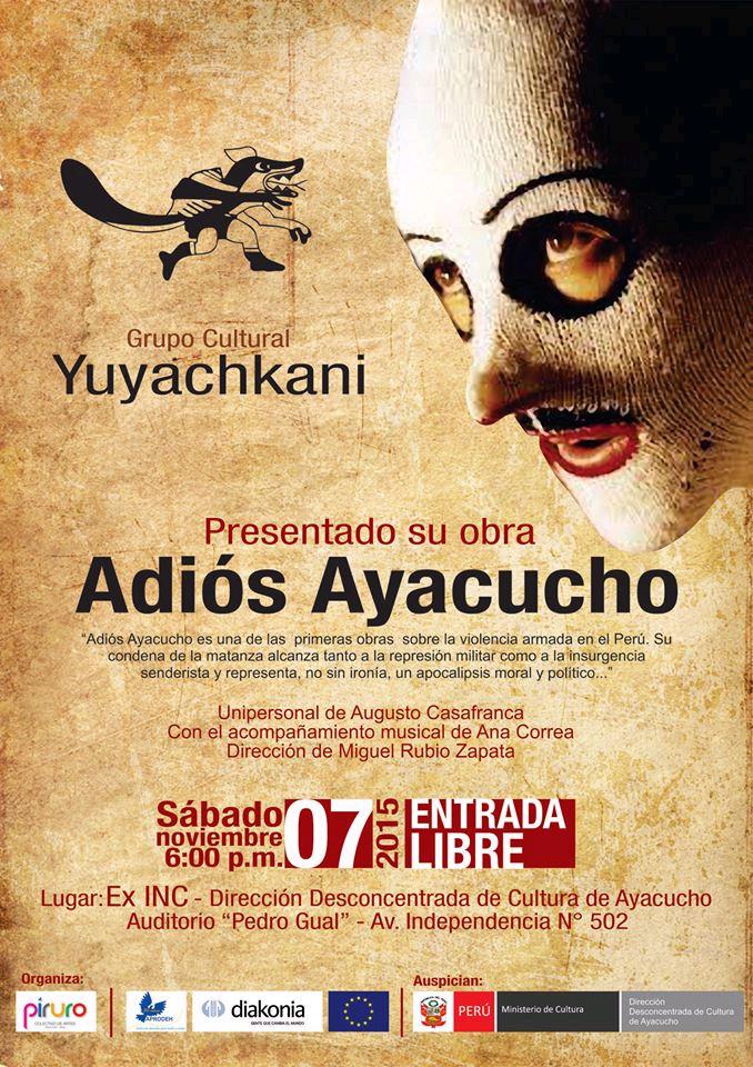 Yuyachkani Adios Ayacucho